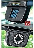 HVH SHOP Solar Power Car Auto Cool Air Vent with Rubber Stripping Car Ventilation Fan
