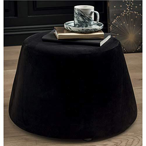 pouf nero velluto TODAY 233052 Pouf