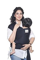 Mama Cuddle Super Soft Lightweight Baby Sling Stretchy Wrap Carrier - Black,mama cuddle