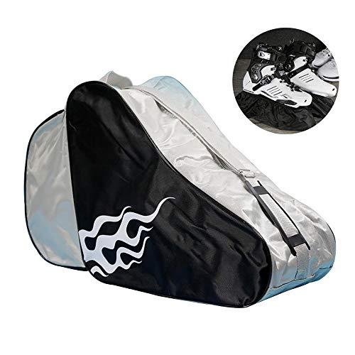 Duan Ice Skating Bag, Roller Skate Bag Ice Bag, atmungsaktiv für Kinder und Erwachsene zum Lagern von Skates (Schwarz)