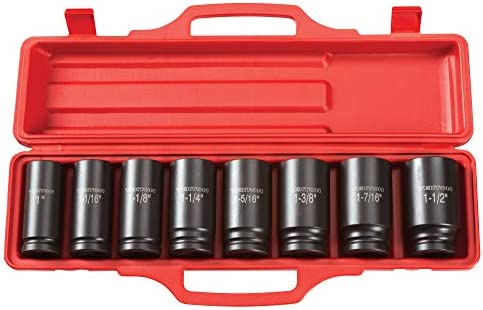 TEKTON 3 4 Inch Drive Deep 6 Point Impact Socket Set 8 Piece 1 1 1 2 in 4891 product image