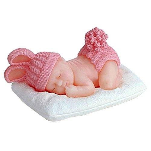 Baby 3D schlafend liegend Fondant Silikonform Backform Schokoladenform Pralinenform Cupcake Keks Kuchen Basteln Backen Verzieren Formen Eiswürfelform