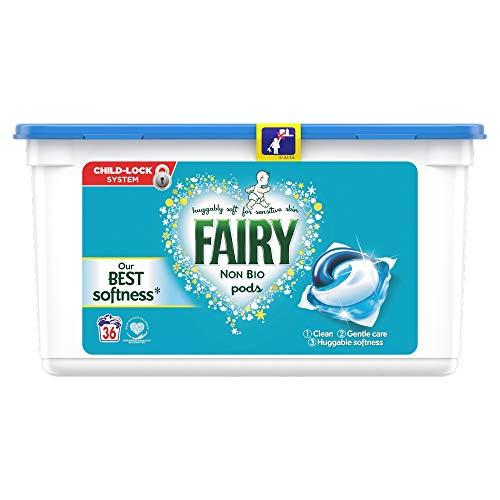 Fairy Non Bio Washing Liquid Laundry Detergent, 36 Pods