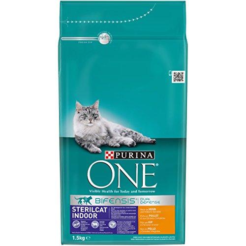 PURINA ONE Sterilicat Bifensis - Alimento Seco para Gatos Esterilizados de Interior, Rico en Pollo, 1.5 kg