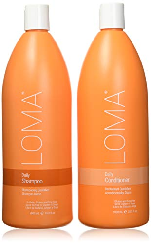 Loma Hair Care Daily Shampoo Daily Conditioner Duo, 33.8 Fl Oz each