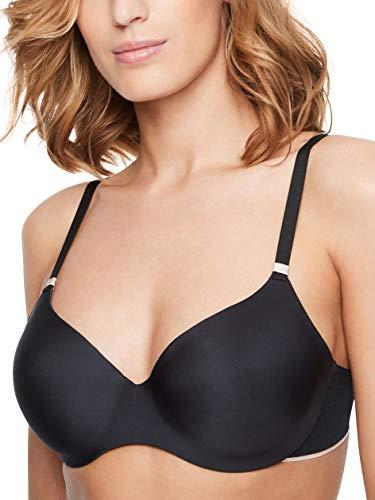 Chantelle Women's Absolute Invisible Smooth Flex T-Shirt Bra, Black, 34E (34DD)