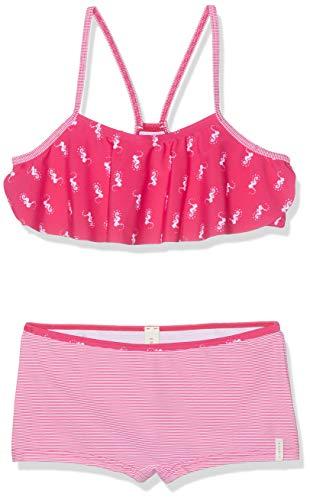 ESPRIT Mädchen Seahorse Beach MG Bustier +hp Badebekleidungsset, Rosa (Pink Fuchsia 660), 104 (Herstellergröße: 104/110)