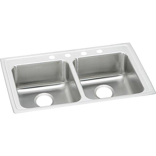 Elkay Lustertone LRAD3321553 Equal Double Bowl Top Mount Stainless Steel ADA Sink