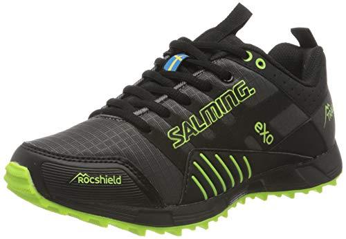 Salming Trail T4 Trailschuh Damen-Dunkelgrau, Schwarz, Zapatillas Running Mujer, Noir Bleu Blanc Noir, 38 EU