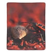 マウスパッド 防塵 耐久性 滑り止め 耐用 ゴム製裏面 軽量 携帯便利 ノートパソコン オフィス用 ゲーム用 (180*220*3mm) 昆虫