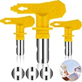 3 Pieces Reversible Airless Sprayer Tip Airless Paint Spray Guns and Airless Sprayer Spraying Machine Parts for Homes Buildings Decks or Fences (515)