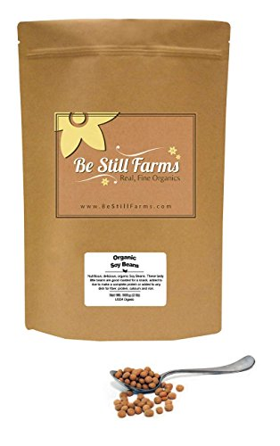 Be Still Farms Organic Soybeans (5lb) Raw Soy Beans are Organic Beans and Non GMO - aka Soya Bean - Crush into Soybean Powder- Easily Sprouting Soybeans- Bulk Soy Beans