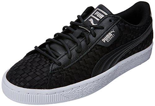 Puma Damen Basket Satin EP WN's Sneaker, Schwarz Black White, 39 EU