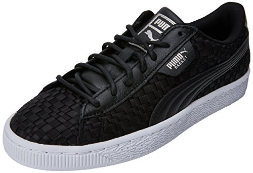 PUMA Basket Satin EP Wn's, Zapatillas para Mujer, Negro Black White, 37 EU