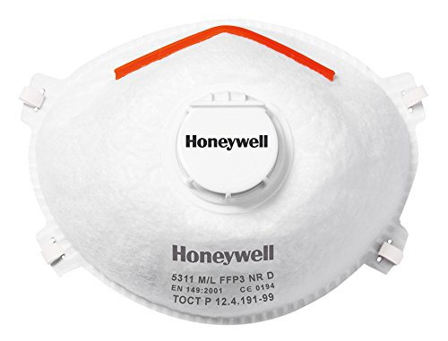 Honeywell 1015635 Medium/Large FFP3 with Valve and Facial Seal 5311 (Pack of 10)