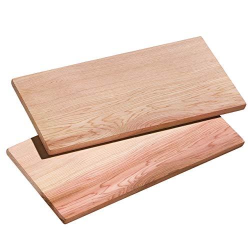 Küchenprofi BBQ Zedernholz Grillbretter SMOKY, 40 x 15 x 1 cm, Räucherbretter, Grillplanken 2er-Set Zedernholzbrett, Beige, 2-Einheiten