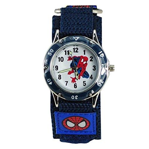Kinderarmbanduhr Spiderman, wasserdicht, Schnell-Armband, Jungen, Mädchen, Kinder Geburtstag, Uhren (blau 1)
