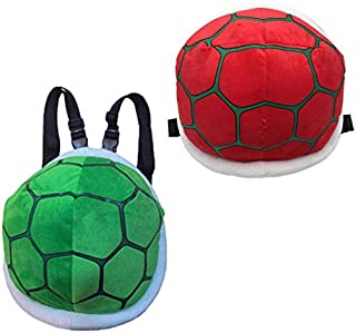 Cute Kids Baby Tortoise Shell Turtle Backpack Plush Bag,Perfect for School or Travel (red)