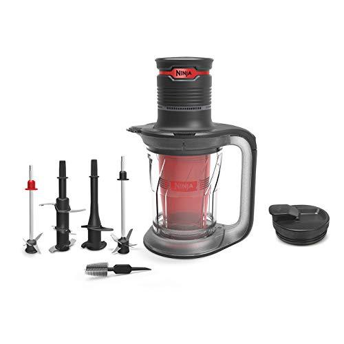 Ninja Ultra Prep 3-in-1 Food & Drink Blender [PS100UK], 700W, Black & Red