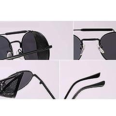 AidShunN Unisex SteamPunk Sunglasses Classic Retro Style Metal Round Goggle #1