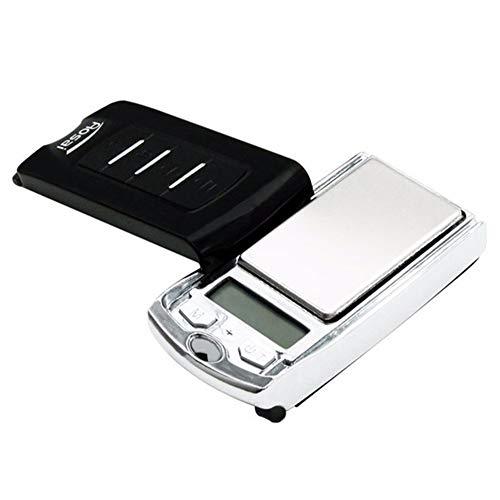 HshDUti 200 g / 0,01 g Mini Tragbare Schmuck Elektronische Waage Balance Autoschlüssel Ring Schlüsselbund Silver