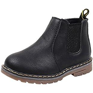 Quistal Kids Shoes Boys Girls Martin Sneaker Boots Zipper Baby Casual Shoes For School Kindergarten by (UK Size 10, Black):Kumagai-yutaka
