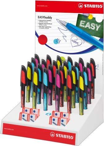 STABILO Füller Easy Buddy sort. 24er Display mit Tinte
