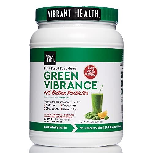 Vibrant Health, Green Vibrance, Vegan Superfood Powder, 83 Servings (FFP)