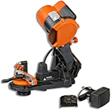SuperHandy Chainsaw Sharpener Grinder Work Bench or Wall Mounted Portable Cordless 18V DC Powered by Lithium Ion Battery with a Grind Angle of 35° Left to Right & Includes 23mm Grinding Wheel