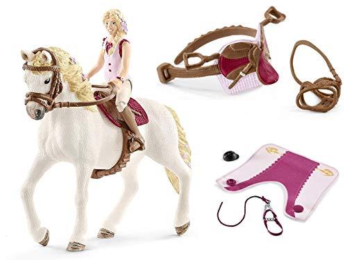 3in1-SET Schleich Pferde Horse Club - Sofia & Blossom mit extra Pferdedecke und Sattel 42412 + 42460 + 42490