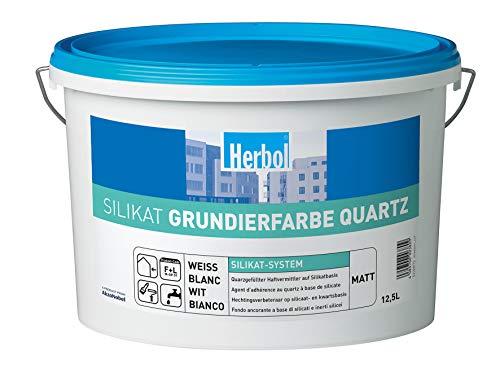 Herbol Silikat Grundierfarbe Quartz Weiß 12,5L