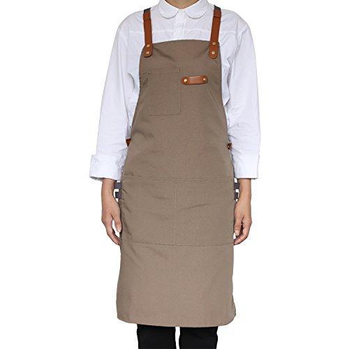 NEOVIVA Stilvolle Kochschürze für Damen und Herren mit Werkzeugtaschen, robuste Grillschürzen