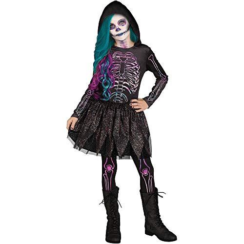 Fun World Galaxy Skeleton Child Costume, Multicolor, Medium
