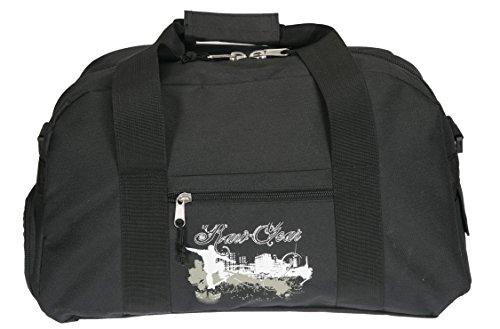 Spear Sporttasche mit Schuhfach/Naßfach Sport Tasche + Trinkflasche (Outback Schwarz)