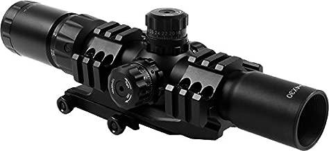 AIM Sports JTCR1 Tri Illuminated Cqb Scope with Locking Turrets/Arrow, 1.5-4X30mm