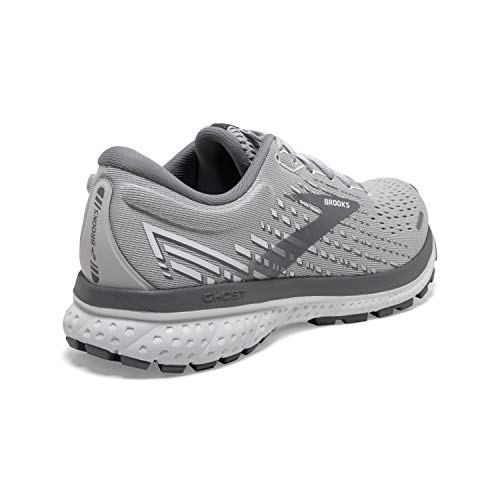 Brooks Ghost 13 Alloy/Oyster/White 8 B (M)