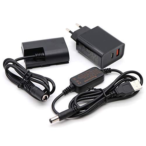 5V USB Adapter Kit Kabel DC 8.4V ACK-E6 + DR-E6 LP-E6 LP E6 Völlig decodierte Dummy Batterie für Canon EOS 5D Mark II III 5D2 5D3 60D 70D 80D 6D Mark II