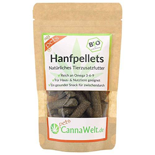 CannaWelt Bio Hanfpellets für Tiere - Der gesunde Snack für zwischendurch - DE-ÖKO-039 (500 GR)