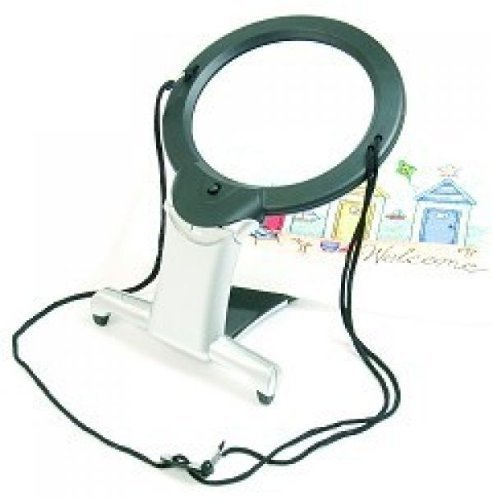 2 In 1 Illuminated Hands-free Magnifier (LED) by Purelight