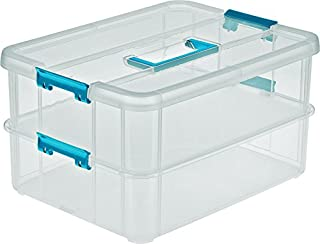 Sterilite Stack & Carry 2 Layer Handle Box
