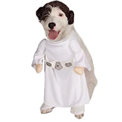 Princess Leia Halloween Dog Costumes