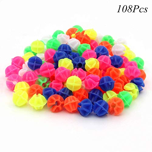 Spoke Decorations Bicycle Wheel Spokes Plastic Beads 108Pcs