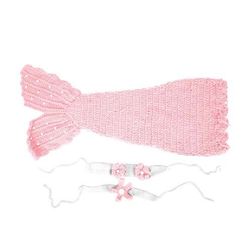 Meerjungfrau Schlafsack Baby Doll Kleidung für kleine Baby Baby Fotografie Requisiten(Pink)
