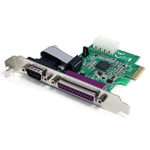 StarTech.com PCI Express Parallel Seriell Schnittstellenkarte - PCIe Combo Card 1S1P RS232 - 1 x DB-25 (Buchse) 1 x DB-9 (Stecker)
