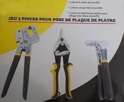 3 Pinces A Placo Plaque De Platre Plaquiste Avec Pince A