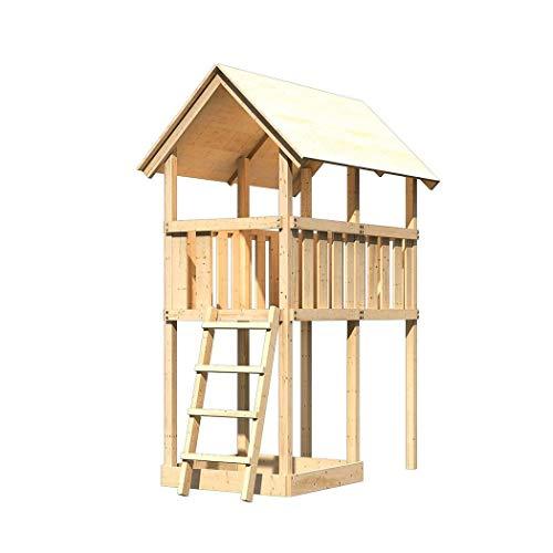 Akubi Karibu Spielturm Danny Spielhaus Kletterturm Kinderspielturm + Sandkasten