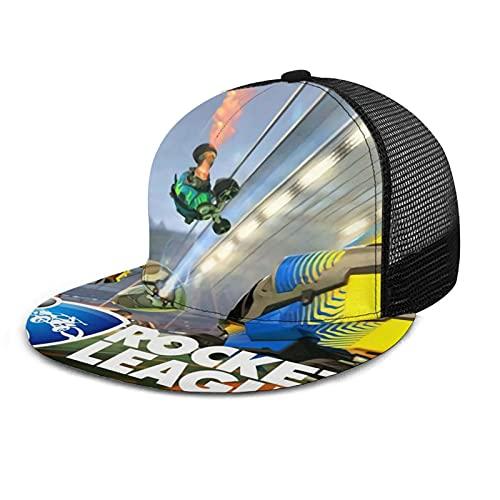 YooHome Ro-cket Le-Ague Gorra de camionero cómoda y duradera gorra de malla para DadLeisure Sports Negro