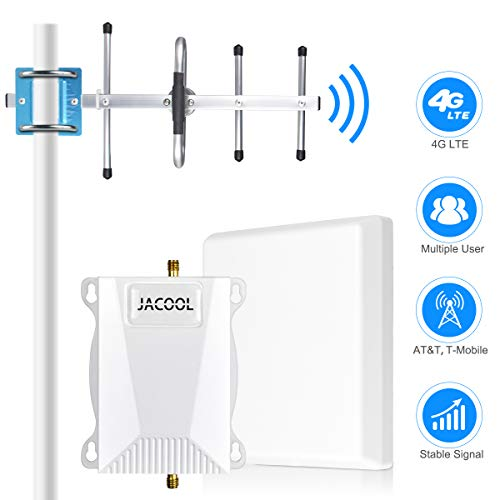 AT&T Cell Phone Signal Booster for Home and Office - 700MHz Band 12/17 T-Mobile ATT Cellular Booster Amplifier Connect 4G LTE Mobile Signal Repeater - Coverage Upto 4,000sq ft