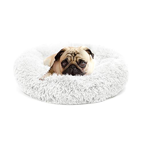 nononfish Dog Bed for Small Dogs Indoor Cats Puppy with Puppy Blanket Orthopedic Relief Durable Self-Warming and Cozy for Improved Sleep Anti Slip Bottom