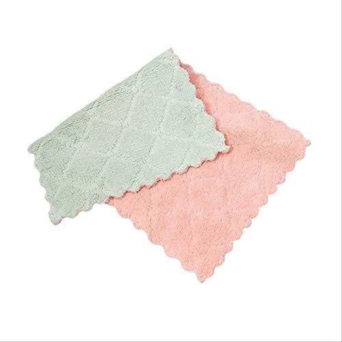 FHFF Keuken Handdoek Nieuwe Aankomst 2019 Vaatwasser Microvezel Keukendoek voor Raam Rags Bril Wasschaal Handdoeken Groen